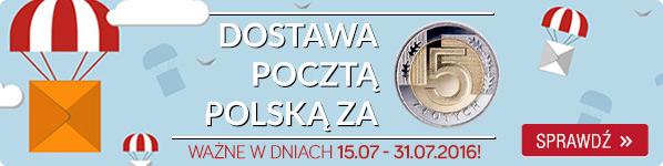 Dostawa Pocztą Polską za 5 zł