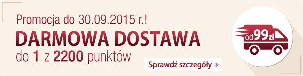 Darmowa Dostawa do 1 z 2200 punktów w Polsce