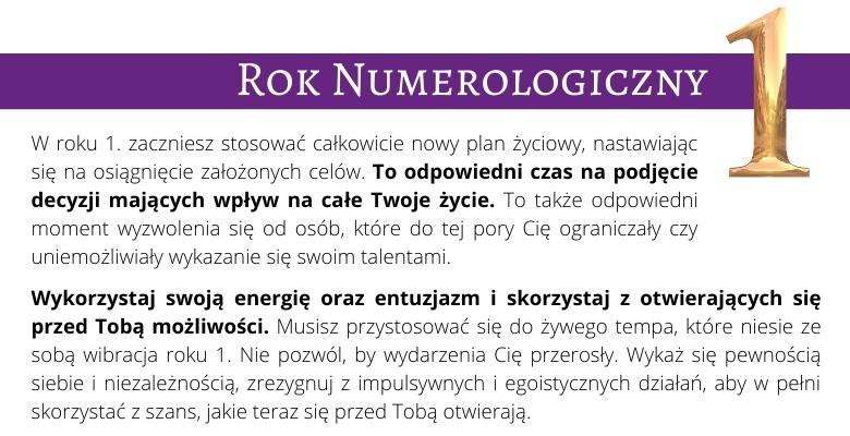 Rok Numerologiczny 1