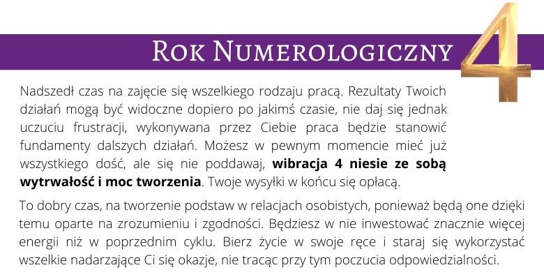 Rok Numerologiczny 4
