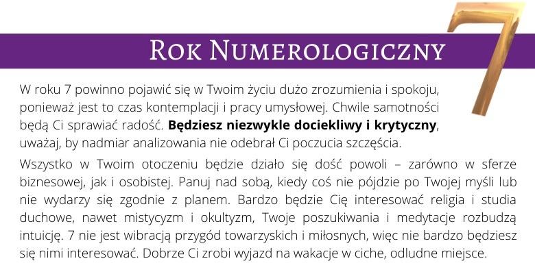 Rok Numerologiczny 7
