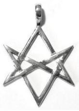 Heksagram unikursalny                         srebrny