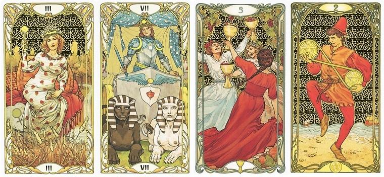 Golden Art Noveau Tarot