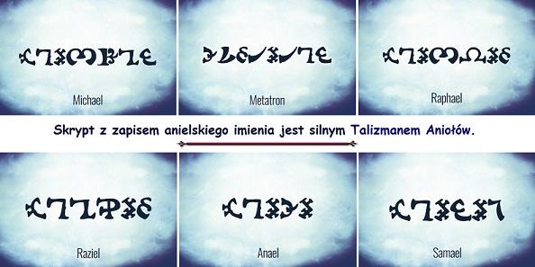 Skrypty z imionami Aniołów jako Amulety Anielskie