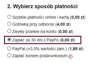 Opcja Paypo