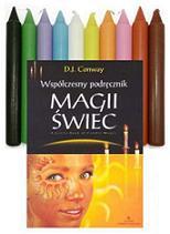 Zestaw 10 kolorowych świec i podręcznika do magii świec
