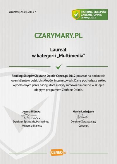 Dyplom dla sklepu CzaryMary.pl