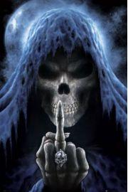 Śmierć w Pełni Księżyca - finger - plakat