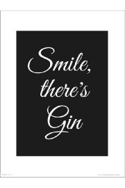 Smile Gin - art print
