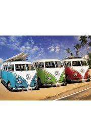 Volkswagen Camper – Campery na Plaży - plakat