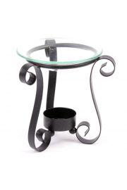 Metalowa  podstawka na świeczki z miseczką na wodę