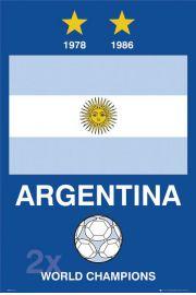 Argentyna Mistrzowie Świata - Piłka Nożna - plakat