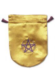 Satynowy woreczek na karty Tarota – Pentagram