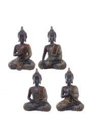 Siedzący tajski budda - mały, brązowy z efektem patyny