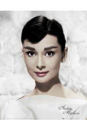 Audrey Hepburn w Bieli - plakat