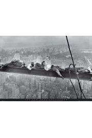 Nowy Jork - śpiący robotnicy - plakat