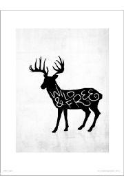 Wild Free Jeleń - art print
