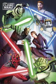 Clone Wars Wojny Klonów Dobro kontra Zło - plakat