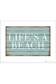 Life is a beach - art print