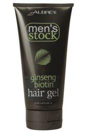 Aubrey Organics, Men's Stock Żel do stylizacji włosów z Żeń-Szeniem i Biotyną dla mężczyzn, 177 ml
