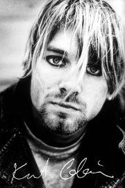 Nirvana - Kurt Cobain - Autograf - plakat