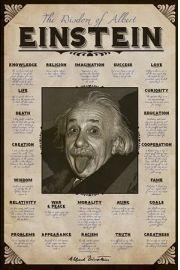 Albert Einstein Cytaty - plakat