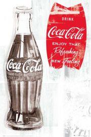 Coca Cola Butelka - retro plakat