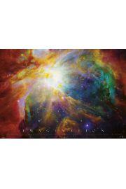 Imagination Kosmos Nebula - plakat motywacyjny