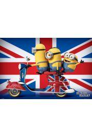 Minionki Wielka Brytania Minionmania - plakat