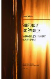Substancja jak światło? Wybrane pojęcia i problemy filozofii Spinozy