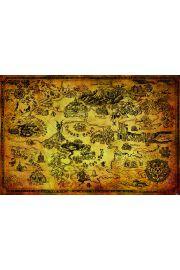 The Legend Of Zelda Hyrule Map - plakat