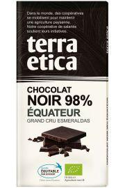 Czekolada Gorzka 98% Ekwador Fair Trade Bio 100 G - Terra Etica