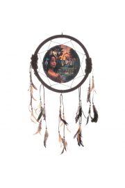 Indiański łapacz snów - z obrazkiem indianki 33cm