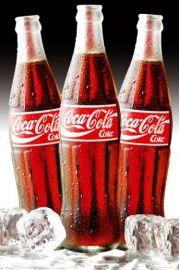 Coca-Cola - Butelki w Lodzie - plakat