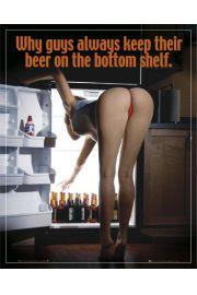 Dlatego Piwo Stawiam na Dolnej Półce - Akt - plakat