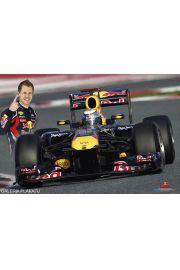 Red Bull Racing - Formuła 1 Sebastian Vettel - plakat
