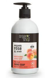 Organiczne Odżywcze Mydło w pł. do rąk Różana Brzoskwinia OS Organic Shop