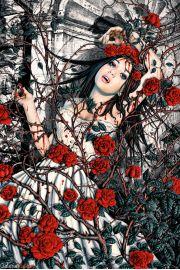 Entwined - Dziewczyna w Różach - plakat