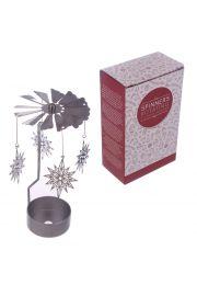 Metalowa ruchoma �wi�teczna dekoracja ze �wieczk� - P�atek �nieg