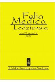 Folia Medica Lodziensia t. 36 z. 2/2009