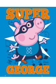 Świnka Peppa - Peppa Pig - Super George - plakat