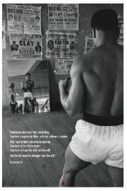Muhammad Ali Trening na Siłowni - plakat