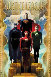 DC Comics Liga Sprawiedliwych Drużyna Art Deco - plakat