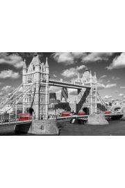Czerwone Autobusy - Tower - Londyn - plakat