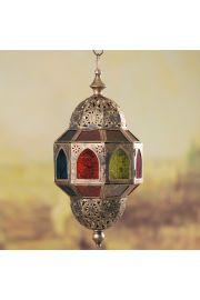 Marokański wiszący złoty lampion - Ośmioboczny
