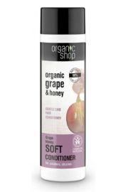 Delikatny balsam do włosów Winogrono i Miód OS Organic Shop