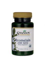 Swanson Bromelaina 240GDU 100 tabl.