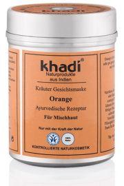 Pomara�czowa maseczka do twarzy Khadi