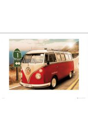 VW CALIFORNIAN CAMPER na Trasie - reprodukcja