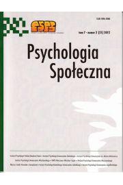 Psychologia Społeczna nr 2 (21) 2012